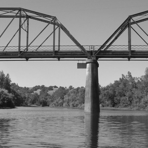 Guerneville Bridge and the Russian River, CA