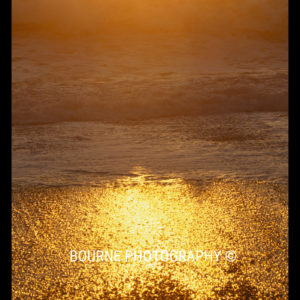 Golden waves wash upon the sand