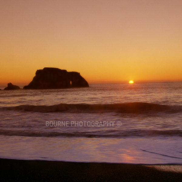 Ocean Sunset Goat Rock Beach Sonoma Coast Northern California