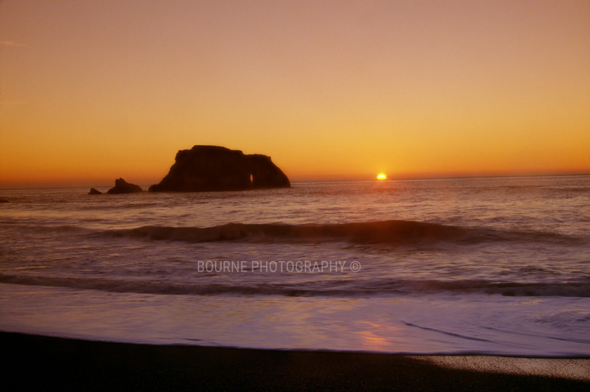 Ocean Sunset Goat Rock Beach Sonoma Coast Northern California