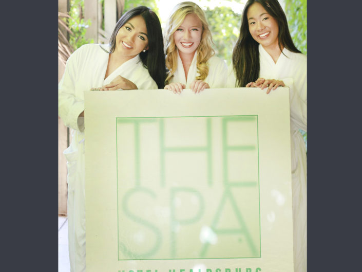 young diverse women at the spa