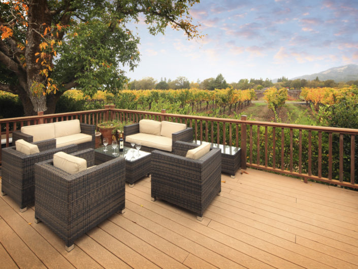 patio in the vineyards