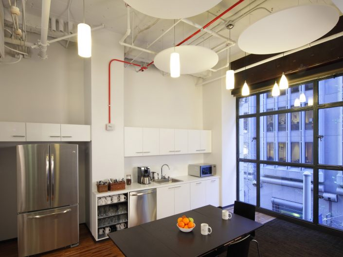 corporate loft breakroom