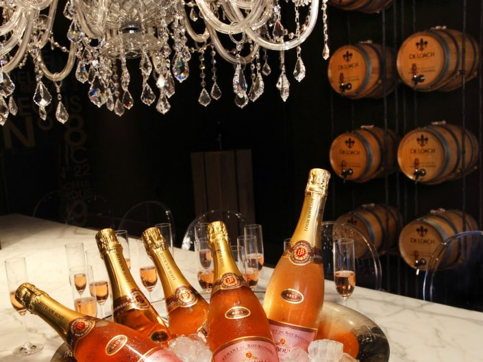 Pink Champagne and ice bucket