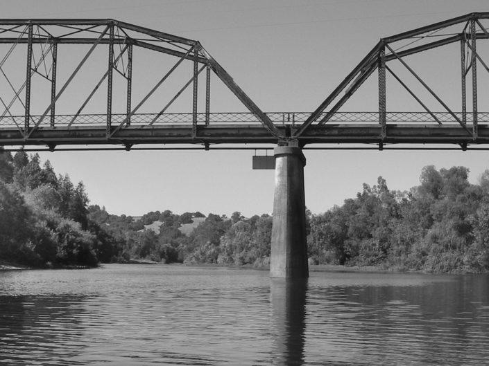 Guerneville Bridge and the Russian River, CA