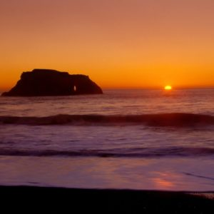 Sunset over the ocean, sonoma coast sunset