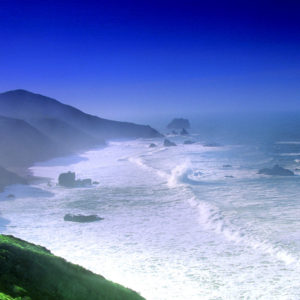 Landscape,pacific ocean,sonoma coast, breaking waves