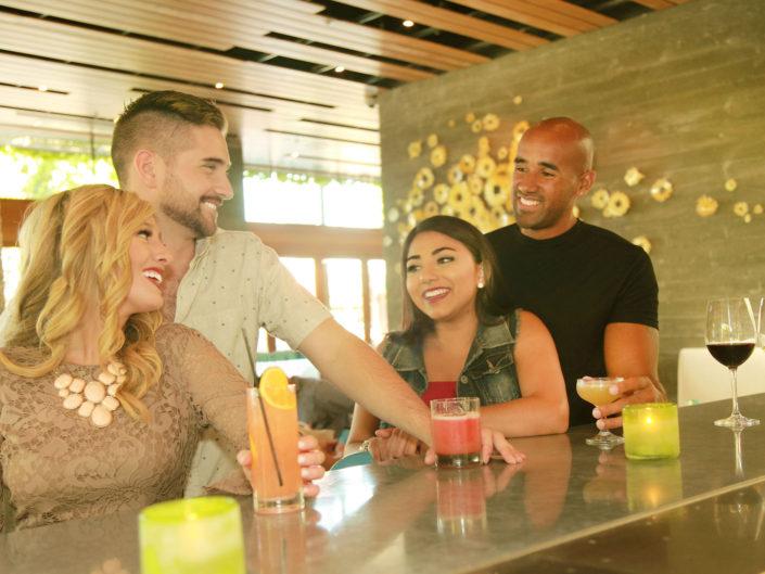 bi racial couples at the bar