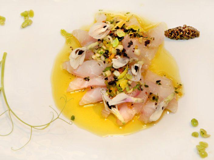 sashimi dinner on plate