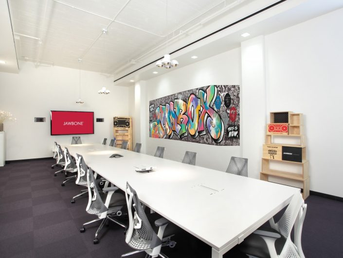 Conference Room with Grafitti Mural